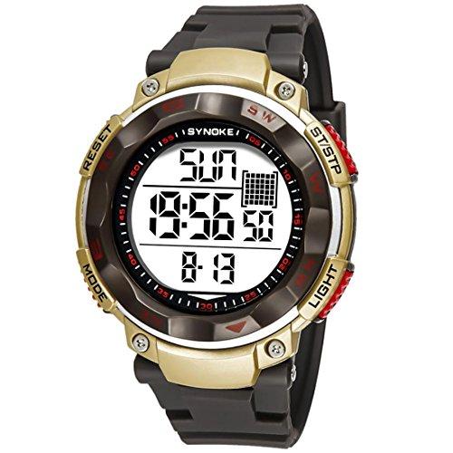 Multifunktions 50M wasserdicht Smartwatch von Mamum, SYNOKE-, 50m wasserdicht, LED-Uhr Digital mit Einheitsgröße coffee
