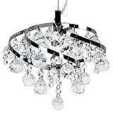 Deckenleuchte Abija Kristallleuchte Kristallen tropfenförmig Pendelleuchte Deckenlampe Hängeleuchte