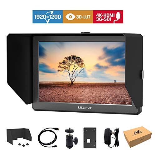Lilliput A8S 3G-SDI 3D-LUT 8.9 Zoll 1920x1200 Kamera Top Broadcast Field SDI Monitor mit 4K HDMI Input Output Camcorder DSLR Feldmonitor Canon C200 II RED FS5 FS7 II (A8S) 8.9