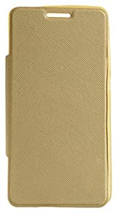 Purple Eyes Coideo Artificial Leather Flip for Xiaomi Mi4i (Gold)