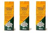 ARGITAL - ARGILLA VERDE FINE 3 CONFEZIONI DA 1 KG, polvere fine per viso, corpo e capelli