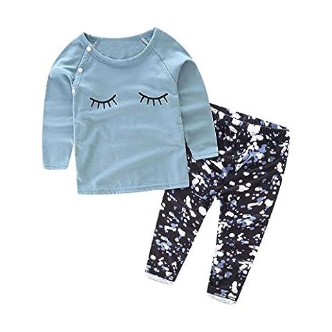 T-shirt Tops + Pantalons, Yogogo Tenues Vêtements Set - Toddler