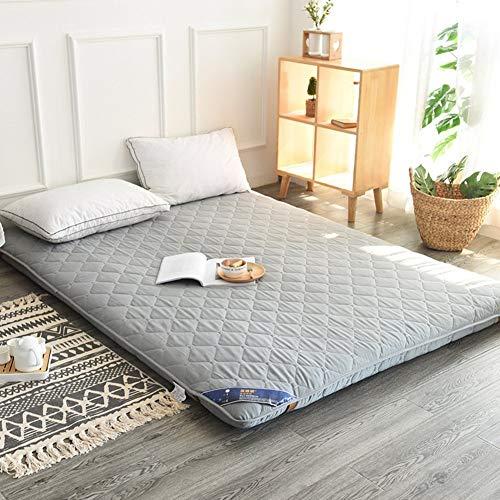 EEvER Schlafmatte Bequeme Matratze Tatami-Fußmatte, Fußmatte Futon-Matratzenauflage Traditionelle japanische Futon Queen-Size Einzelne Größe Schlafsaal-Grau 180x200cm (71x79 Zoll)