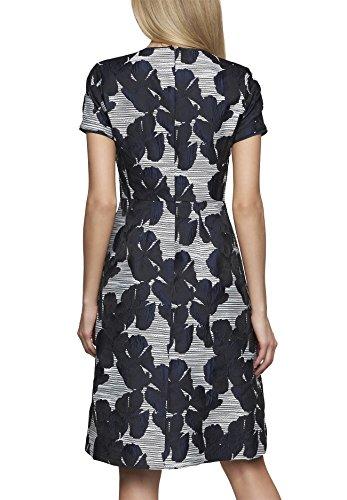 APART Fashion 61415 - Robe - Femme Noir - Schwarz (winterweiß-tintenblau 0)