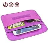 Faraday bag, Wisdompro RFID per blocco segnale schermatura borsellino del telefono cellulare privacy protezione e auto portachiavi