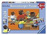 Ravensburger - 08898 - Puzzle Enfant Classique - Petit Ours Brun Fait les Courses - 2 x 24 Pièces