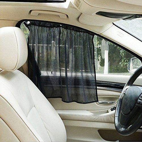 Baodanjiayou Sonnenschutz-Vorhänge, verstellbar, 42 x 72 cm, für Autoseile, UV-beständig, mit Saugnäpfen, 2 Stück