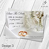 Premium Personalised Save The Date Wedding Invitations