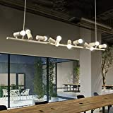 CLLCR Wohnzimmer-Deckenleuchte, Decken-Kronleuchter Moderne kreative Kronleuchter Einfache Restaurant Bar Schlafzimmer Beleuchtung Vogel Lichter 6 8 10 Vogel Kronleuchter, Haushalts-Kronleuchter,10 K