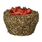 Natural Snack Hay Bowl with Carrots, for Small Rodents & Rabbits, ø 10 cm, 200 g