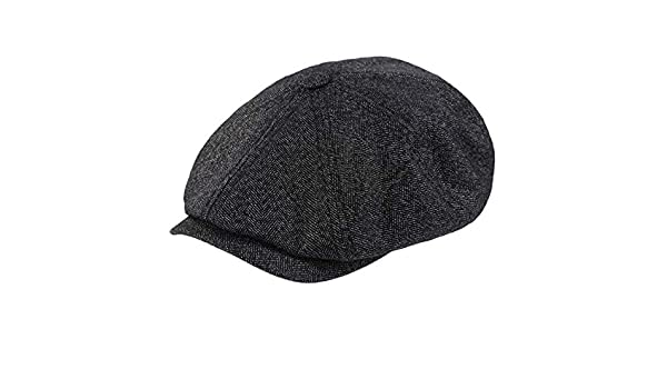 544f1b3b7c23 Ted Baker Tspoon Charcoal Grey Herringbone Baker Boy Flat Cap M-L   Amazon.co.uk  Clothing