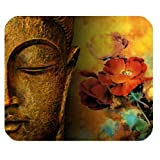 Comfortable Buddha Statue Rectangle Non-Slip Rubber Mouse Pad,Gaming Mouse Pad,Office Mousepads,Desktop Mousepad