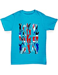 TWISTED ENVY Jungen T-Shirt GB Golf Rainbow Collage Print