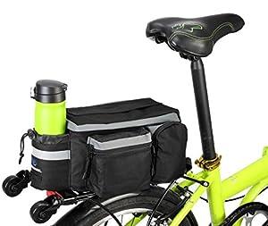 BestFire 7L Mountain Road MTB Bicycle Bike Cycling Sport Waterproof Rear Seat Bag Pannier Trunk Bag Bicycle Accessories Shoulder Handbag Bag Pannier Black from BestFire