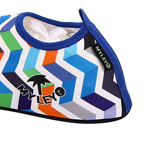 amazmall Unisex Barefoot Acqua Pelle Scarpe Aqua calzini per Beach Swim Yoga Blue