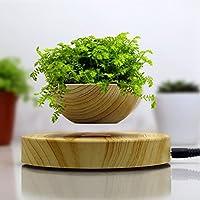 Caratteristiche del prodotto:1. Con l' innovativa tecnologia di levitazione magnetica2. Finto legno design3. Adatto per tutte le occasioni4. levitazione magnetica vaso di fiori5. Con l' indicatore LED luceProdotto funzione: Mini vaso di fiori...