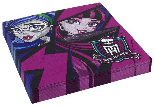 20serviettes * Monster High 2* pour fêtes et Anniversaire//enfants Fêtes et Anniversaires d'Enfants Napkin Serviettes en papier décoratif Devise