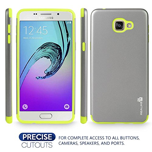 Samsung A9 Pro Cover, REALIKE™ Premium {Imported} Shock Proof Case for Samsung Galaxy A9 Pro (Envoy Series – Green)