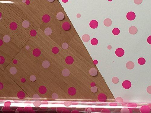1 Meter x 80cm Schnittlänge pink-cerise Punkte/klar Geschenk Verpackung Wäschekorb Florist Zellophan - Basket-modell-nummer
