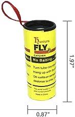Umiwe 32 Stück Fliegenfänger Leimrollen Fliegenfalle Insektenfalle Fruchtfliegenfalle Fliegenfängerband - VISKOS VERSTÄRKT