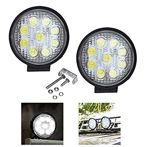 VINGO® 2X 27W Arbeitsscheinwerfer LED 12v Quadratisch Arbeitslicht Auto Scheinwerfer Lampe 6500K Weiß Für Trecker Offroad KFZ Bagger SUV