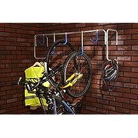 Mottez Supporto da parete per 5 biciclette
