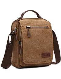 LOSMILE Bolsos Bandolera Hombre Pequeñas Bolsos de mano Bolsa de Hombro  Messenger Bag Bolsa de Lona 005233c0ba75