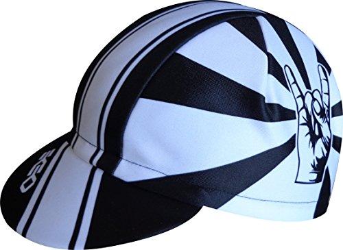 EKEKO SPORT Ekeko拉各斯帽。 赛车场骑行帽。 骑自行车,跑步,铁人三项和越野跑。 100%聚酯赛事。 (白/黑)