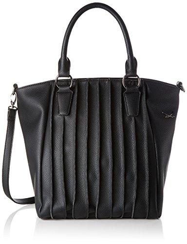 Sansibar - Zip Bag, Borse a secchiello Donna Nero (Black)