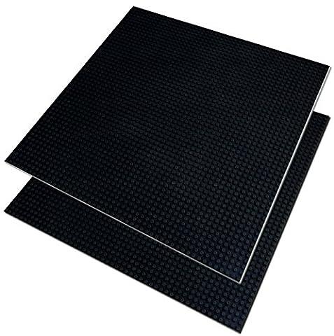 Katara 1672 kompatible Bauplatte, dunkel-graue Grund-Platte zum Bauen, kompatibel zu