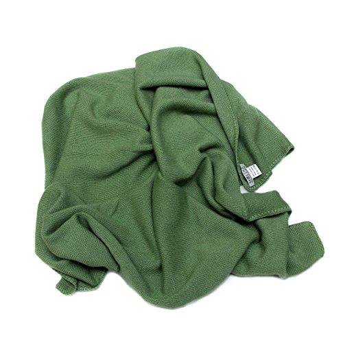 100% Baby Cashmere Coperta, cashmere della Mongolia (26/2) 4 strati cachemire inverno spesso coperta del cachemire, coperta regalo morbido di lusso invernale per bambini, Verde