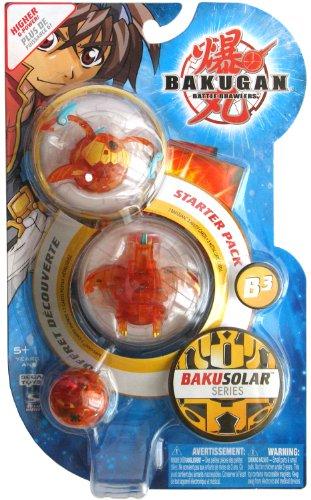 BAKUGAN Starter Pack - B3 BAKUSOLAR Series - 3 Figure Set