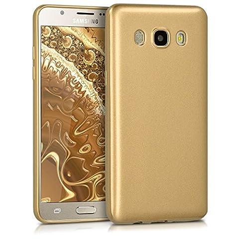kwmobile Hülle für Samsung Galaxy J5 (2016) DUOS - Backcover Case Handy Schutzhülle TPU Silikon - Cover Metallic
