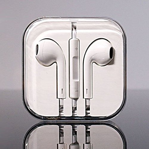 Original Apple MD827ZM/A Earpods In-Ear Ohrhörer Headset Kopfhörer mit Mikrofon für Apple iPhone 4 4S 5 5S 6 6S / iPad / iPod + Panzerfolie für iPhone 6 von VPOWER® Iphone 4 Teile