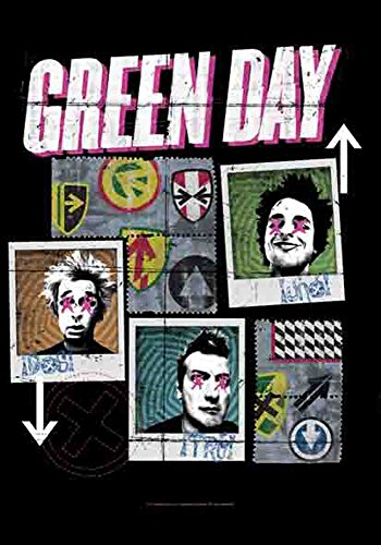 Green Day - Uno, dos, Poster Tre Drapeau 100% polyester - Taille 75 x 110 cm