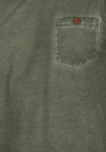 !Solid Tinny Herren T-Shirt Kurzarm Shirt V-Ausschnitt Brusttasche Aus 100% Baumwolle Climb Ivy (3785)
