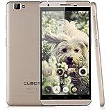 "Cubot X15 - Smartphone Libre 4G LTE Android 5.1 (Quad Core, 5.5"" FHD 1080P IPS Pantalla, HotKnot, 16G ROM, Gesto de Aire, OTA, GPS, WIFI) Celular (Dorado)"