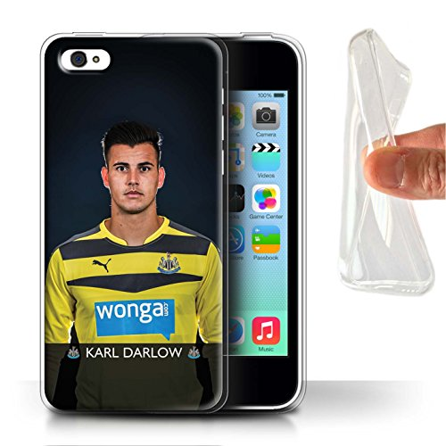 Officiel Newcastle United FC Coque / Etui Gel TPU pour Apple iPhone 5C / Colback Design / NUFC Joueur Football 15/16 Collection Darlow