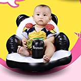 Magideal Cute Inflatable Cartoon Panda Baby Bath Dining Chair with Built In Air Pump