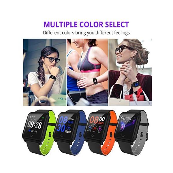 Fitpolo Pulsera de Actividad Inteligente Impermeable IP67,Pulsómetro Mujer Hombre, Monitor de Actividad Deportiva, Reloj… 7