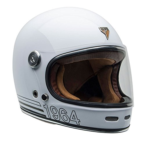 By City - Casco Retro ROADSTER FIBRA White Talla S