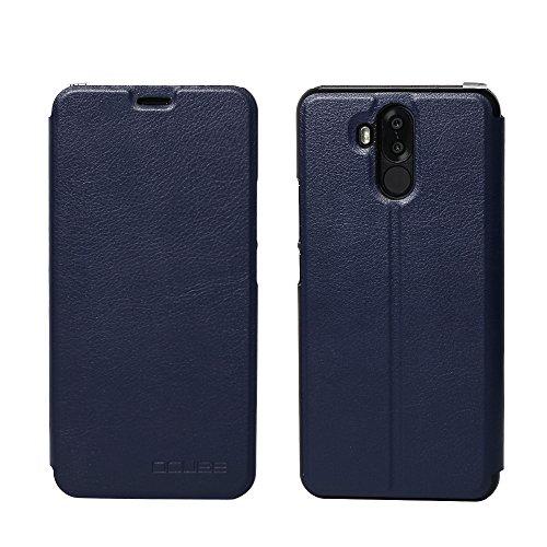 95Street Handyhülle für Oukitel K6 Schutzhülle Book Case für Oukitel K6, Hülle Klapphülle Tasche im Retro Design mit Praktischer Aufstellfunktion - Etui Blau