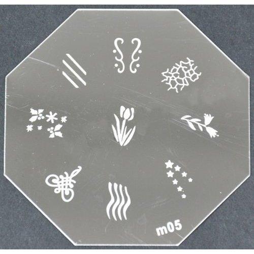 Nail Art emboutissage des tôles - M01 CODE : M05-plaque