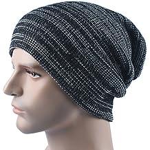 Tinksky Unisex Gorra de invierno retro Slouchy sombreros de punto de lana Beanie Hat suave cálido sombrero de esquí de regalo de cumpleaños de Navidad para los amigos (negro)