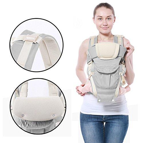 IRISH Baby Strap Hocker Breathable Mesh Kann als Back-Style Kangaroo-Style Baby Tragen Baby Multi-Bag Drei-in-One-Multi-Funktions-Kinderband verwendet werden (grau) grau