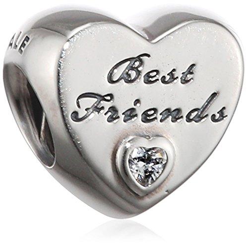 Pandora Women's 9 k Silver Zircon Best Friends Charm