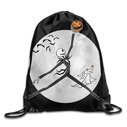 Canace Jack Skellington con zucca di Halloween con cordino Sport all' aria aperta zaino, White, taglia