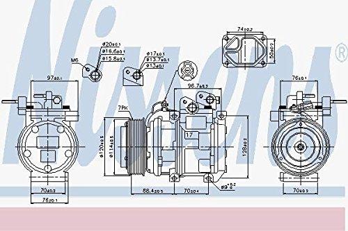Preisvergleich Produktbild Nissens 89269 Kompressor, Klimaanlage