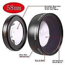 Neewer 58mm 0.45x Objectif Grand Angle avec Macro pour Canon et Sac de Transport