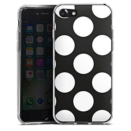 Apple iPhone X Silikon Hülle Case Schutzhülle Dots 50er Punkte Silikon Case transparent
